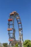 En sikt av frankfurterkorven Riesenrad i Prater Royaltyfria Bilder