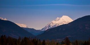 En sikt av glaciärnationalparken Royaltyfri Fotografi