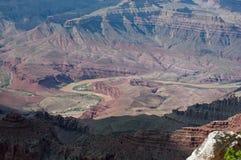 En sikt av Grand Canyon i eftermiddagskuggor Royaltyfria Foton