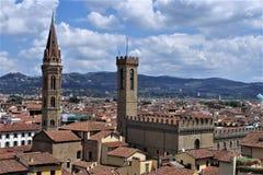 En sikt av härliga Florence royaltyfria bilder