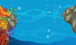 En sikt av havet Arkivbilder