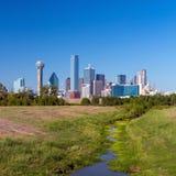 En sikt av horisonten av Dallas, Texas Royaltyfria Bilder