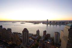En sikt av Hudsonen Arkivbild