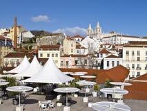 En sikt av kloster på Lissabon Royaltyfria Bilder