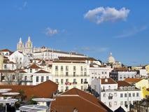 En sikt av kloster på Lissabon Fotografering för Bildbyråer