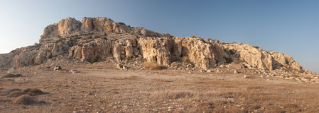 En sikt av landskapet i Cypern Arkivfoto