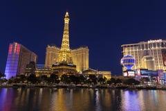 En sikt av Las Vegas Boulevard i Las Vegas, NV på Maj 20, 2013 Arkivbilder