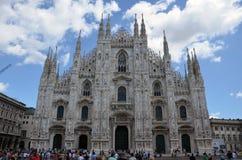 En sikt av Milan Cathedral Arkivfoto