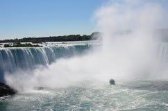 En sikt av Niagara Falls fotografering för bildbyråer