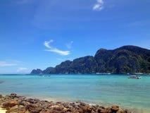 En sikt av PP-ön, Thailand Arkivfoton