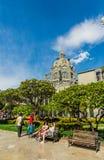 En sikt av Rafael Uribe Uribe Palace av kultur royaltyfria foton