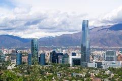En sikt av Santiago Chile Arkivbilder