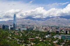 En sikt av Santiagostaden i chile Royaltyfri Foto