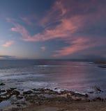 En sikt av solnedgången i Cypern Royaltyfri Bild