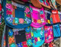 En sikt av souvenir i Honduras royaltyfria bilder