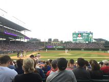 En sikt av stadion för Chicago wrigley fältbaseball Royaltyfri Bild