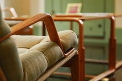 En sikt av stolen i rummet Royaltyfri Foto