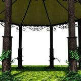 En sikt av tältet från insidan Royaltyfria Bilder