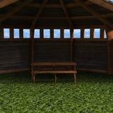 En sikt av tältet, trädgårds- hus Royaltyfri Fotografi