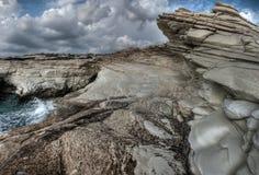 En sikt av vita clifs near limasol Royaltyfria Foton