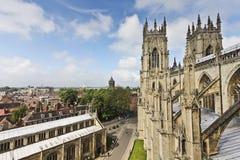 En sikt av York från den York minsteren Arkivbilder