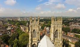En sikt av York från den York minsteren Arkivfoton