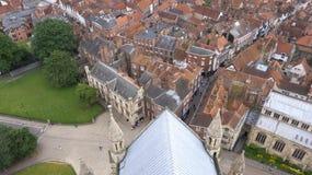 En sikt av York från den York minsteren Royaltyfria Foton
