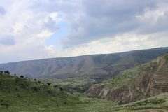 En sikt för Golan Heights royaltyfri fotografi