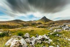 En sikt från bergen av Abruzzo Italien Arkivfoto