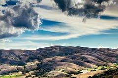 En sikt från bergen av Abruzzo Italien Royaltyfri Foto