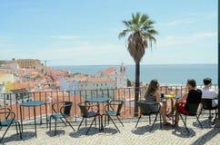 En sikt från Castelo de São Jorge, Lissabon, Tom Wurl Arkivbild