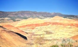 En sikt från de målade kullarna förbiser Fotografering för Bildbyråer