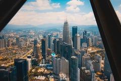 En sikt från den mest högväxta byggnaden i Kuala Lumpur royaltyfri bild