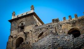 En sikt från Dharbar Hall Golconda Fort Hyderabad royaltyfria foton