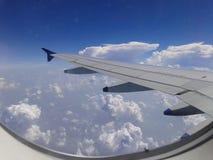 En sikt från ett flygplan Royaltyfria Foton