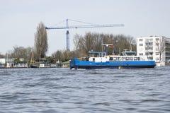 En sikt från fartyget i Amsterdam Arkivbild