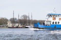 En sikt från fartyget i Amsterdam Arkivfoto