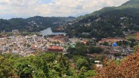 En sikt från ovannämnt av staden av Kandy Sri Lanka Royaltyfri Fotografi