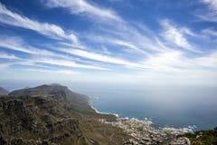 En sikt från tabellberget, Cape Town Royaltyfri Foto