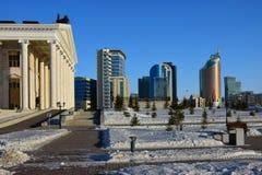 En sikt i Astana Arkivfoton