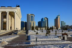 En sikt i Astana Arkivbild