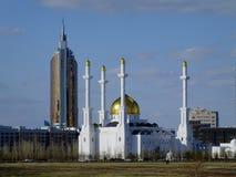 En sikt i Astana, Kasakhstan Arkivfoto