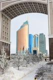 En sikt i Astana/Kasakhstan Arkivfoto