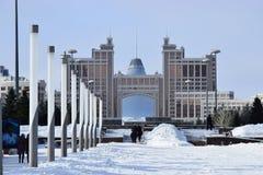 En sikt i Astana/Kasakhstan Royaltyfria Bilder