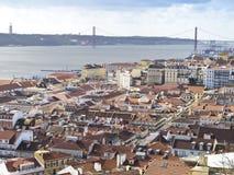 En sikt Lissabon Fotografering för Bildbyråer