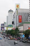 En sikt på centra av Bangkok. Royaltyfri Bild