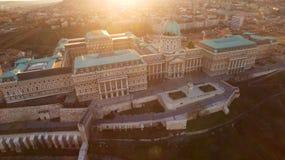 En sikt på den Buda slotten i Budapest Arkivbilder