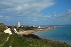 En sikt på den Eastbourne townen, England, Sussex, UK Fotografering för Bildbyråer