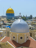En sikt på tak av den gamla staden av Jerusalem Royaltyfri Fotografi