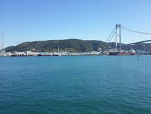En sikt på ulsan port royaltyfria foton